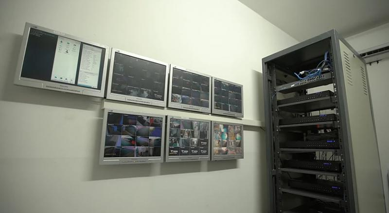 Rede de fibra ótica e CFTV